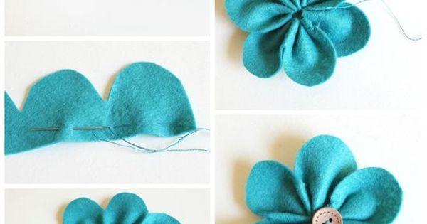 DIY diademas de fieltro | manualidad | Pinterest | Felt Flowers, Felt and Flower Pens