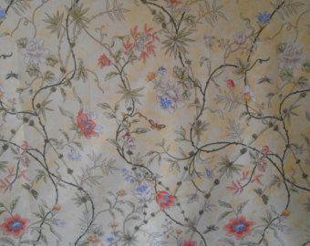 "SCALAMANDRE Fabric ""CHIYOMI"" Chinoiserie Cotton Fabric"