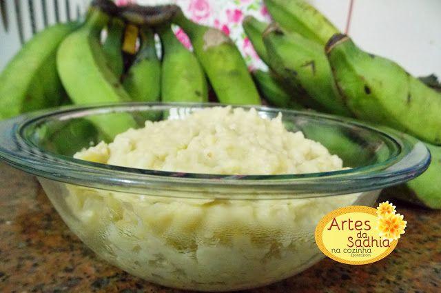 Artes da Sadhia na cozinha : Biomassa de banana verde ,como fazer com Pap.