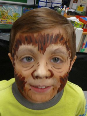 Monkey Face Paint | ... one i did to practice for a monkey party but no one requested a monkey