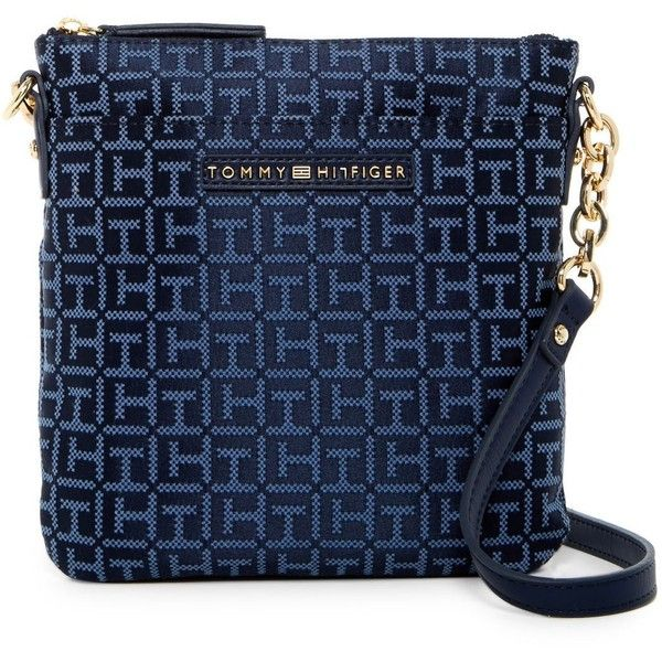Tommy Hilfiger Eloise Logo Crossbody (830 MXN) ❤ liked on Polyvore featuring bags, handbags, shoulder bags, tommy hilfiger shoulder bag, shoulder strap bags, blue purse, tommy hilfiger handbags and tommy hilfiger crossbody