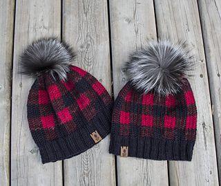 2c4415f6eb7 Ravelry  Yukon Campfire Hat (buffalo plaid) pattern by Liz Sutton