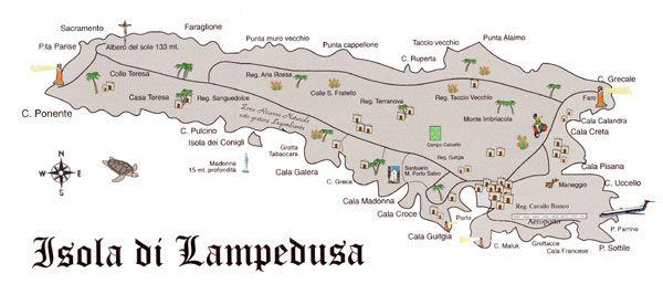 Cartina Isola Di Lampedusa.Cartina Lampedusa Isola Sicilia