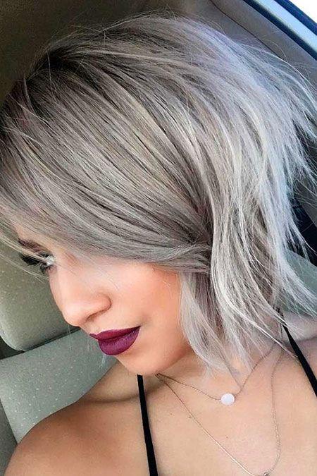20 coiffures Sweet Bob, superbe blonde argentée asymétrique, coiffures Bob …