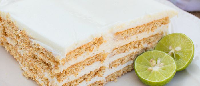 Key Lime Eclair Cake Recipe Desserts with cream cheese, sweetened condensed milk, whipped topping, lime juice, graham crackers, vanilla frosting