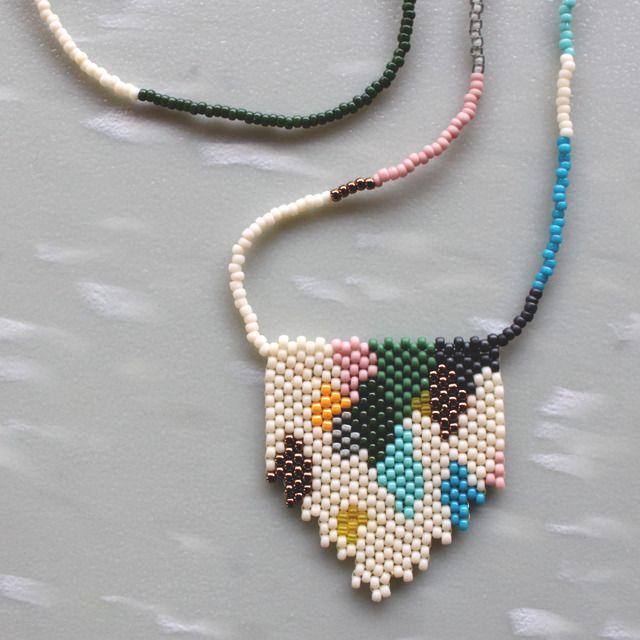 Versicolor Peyote Stitch Necklace