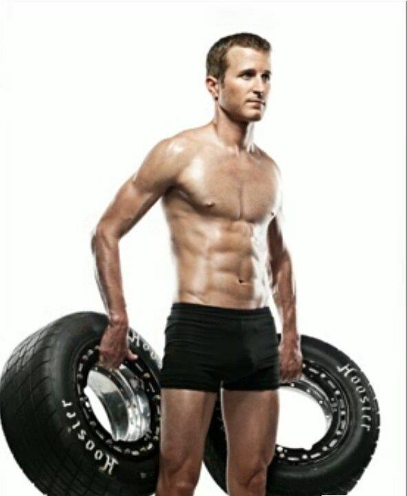 So THAT'S what's Kasey Kahne's been hiding under his firesuit.