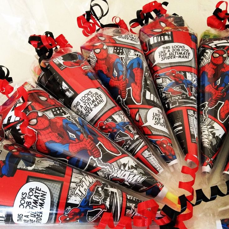 x1 Spiderman Party cone/sweet cone/party bag/loot bag/party supplies/favours