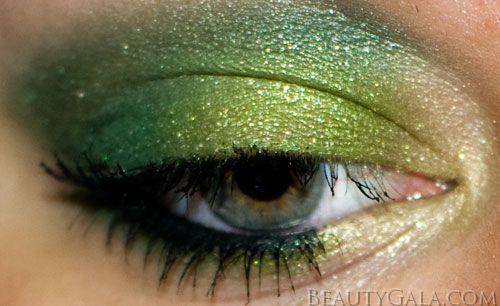 "St. Patricks  Day :)  Makeup Look: ""Forest Fury,"" using Maybelline EyeStudio Color Explosion Palette"