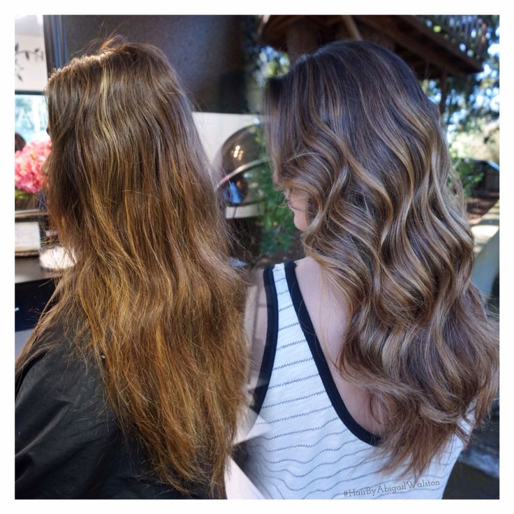 Before And After Brunette Balayage Highlight Ecaile Or Tortoise Shell Color Caramel Balayage