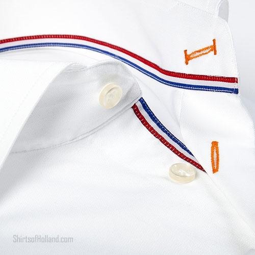 Oranje Overhemd | Wit met leeuw