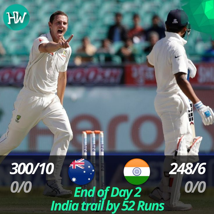 And that's the end of Day 2! Australia came back into the game in some fashion and have left India with only 4 wickets! #INDvAUS #IND #AUS #cricket