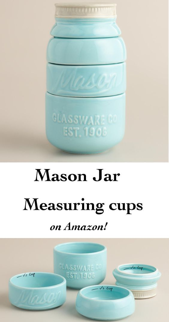 The most incredible Mason Jar measuring cups! Perfect Farmhouse style kitchen accessory! Under $20! (affiliate):
