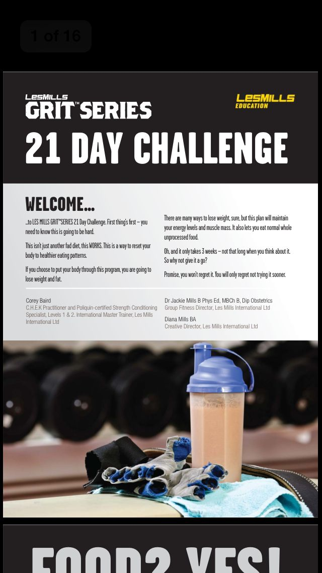 LMI 21 Day Challenge diet plan | Les Mills 21 Day ...