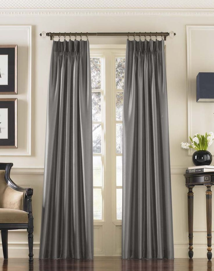️AMAZON $33 Curtainworks Curtainworks Marquee Pinch Pleat Curtain Panel, Pewter, Faux Silk, 30-Inch x 108 Inch , Solid ❤️AMAZON $50 Curtainworks, Curtains Amazon, source,