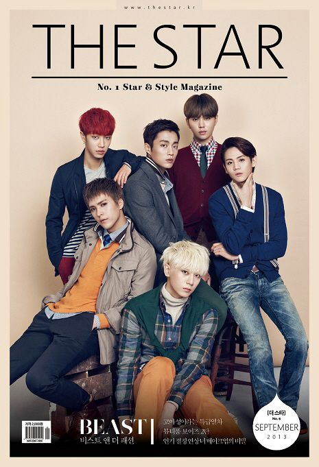 B2ST get preppy on the cover of The Star Magazine