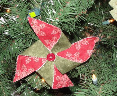I love pinwheel quilts and love this pinwheel ornament.    http://www.lovetosew.com/pinwheel.htm