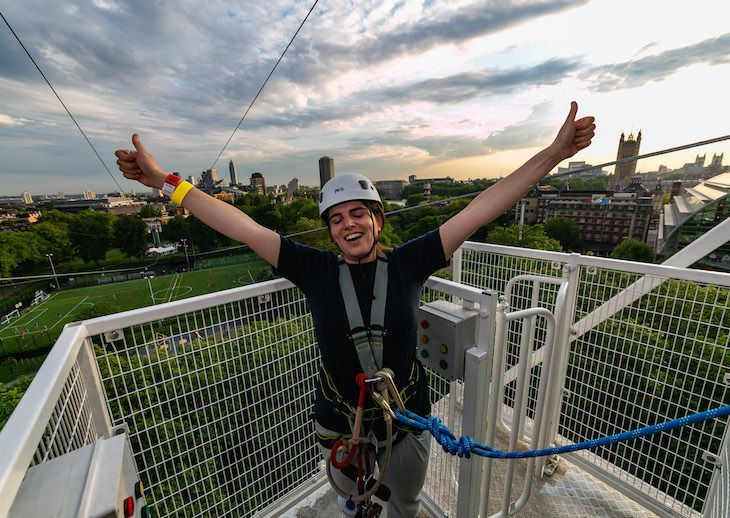 Previously Three Lines Ran Parallel But This Year A Fourth Has Been Added Meaning You Can Add An Extra Mate To Ra Longest Zip Line Adrenaline Junkie London