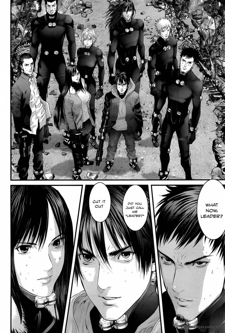 Gantz Manga!! It's really really good so far even though I just started reading, and I heard there's an anime Gantz too?!? It's  about people who have suddenly died and are sent to a room in a black sphere.Having to carry out missions by the government in order to survive.