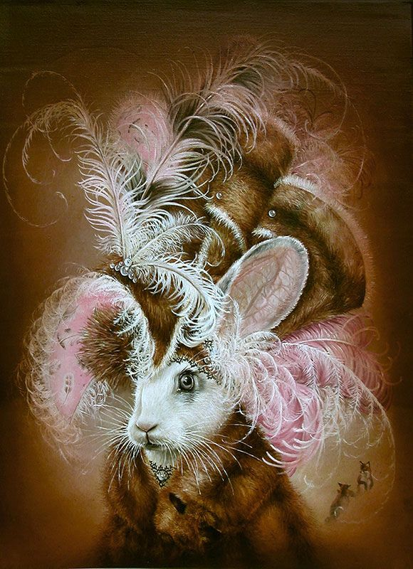 Marc le Rest, Arctic Fox (Noir and Blanc) | The Mad Hatter, Modern Eden Gallery