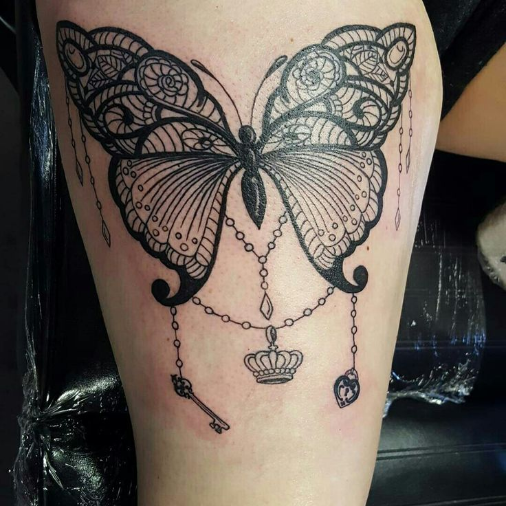 Laura made this delicate #lace #butterfly See more of her work on Instagram @ember_steel  SLC Ink Tattoo 1150 South Main Street Salt Lake City, Utah (801) 596-2061 slcinktattoo@gmail.com www.slctattoos.com