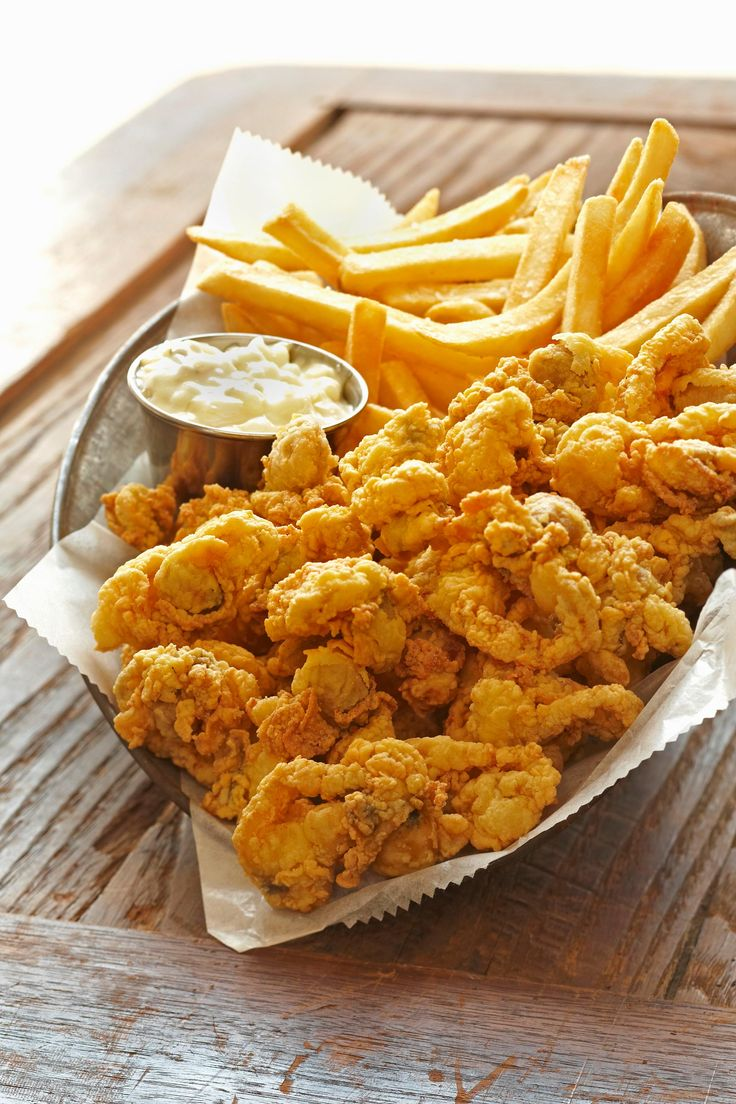 In New England, your fried clams will come with the belly attached. Clam strips will simply will not do here.