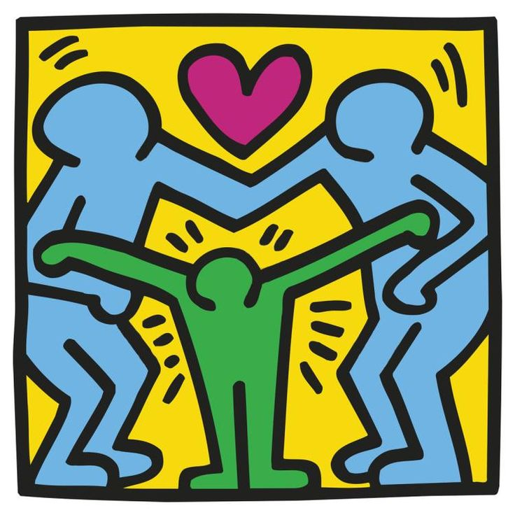 Giclee on premium paper, 2014. Paper Size: 20'' x 20.'' Unsigned and unnumbered. Published by BMG, Inc. Excellent Condition; never framed or matted. KEITH HARING (1958-1989) A leading Neo-Pop artist,