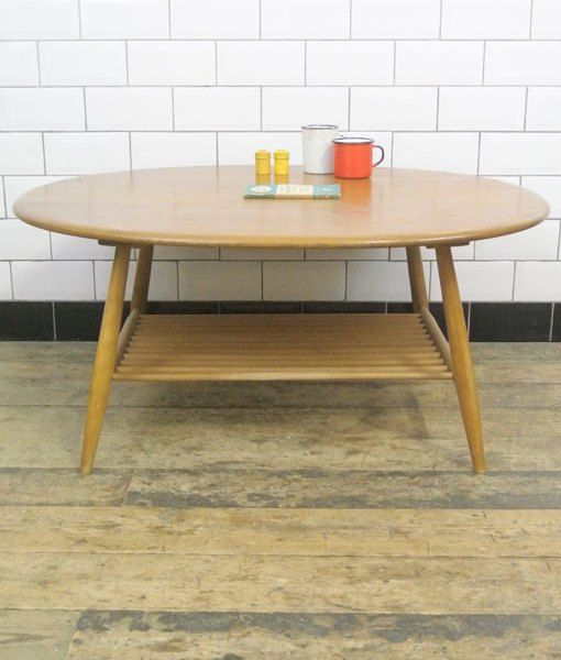 Ercol Oval Coffee Table: Vintage Mid Century Ercol Large Oval Coffee Table