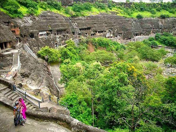india grutas monumento viagens ajanta