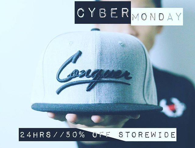 CYBER MONDAY TOMORROW. Our biggest sale ever. 50% OFF storewide. Exclusive to VIP email subscribers. Go to…