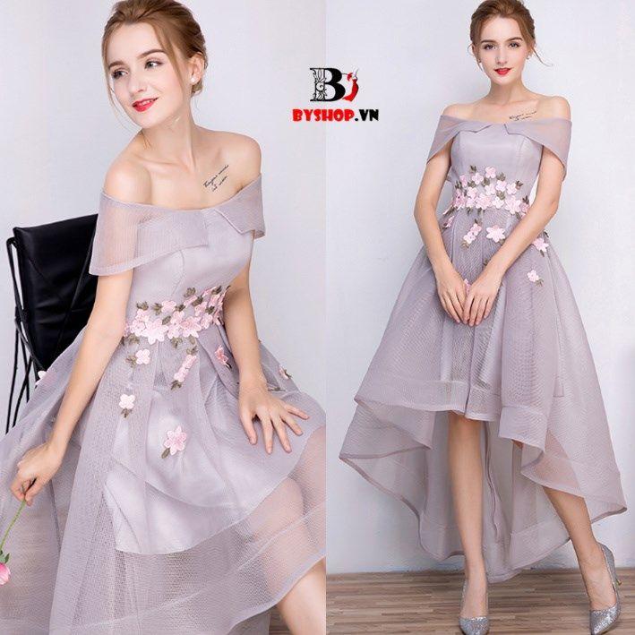 HK613 - Đầm dạ hội ren lưới đính hoa nổi gợi cảm quyến rũ – Thời Trang Nữ BYshop