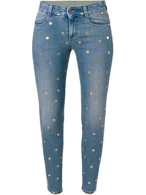 Stella McCartney джинсы кроя скинни  в горошек