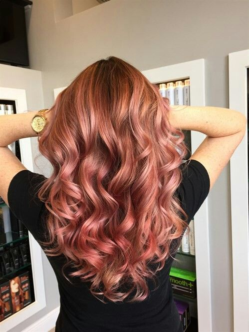 Golden Rose Hair Colour w/ full body waves