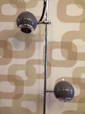 Retro 2-bollen-lamp 'Grijs'