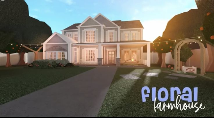 Bloxburg Floral Farmhouse In 2020 House Plans With