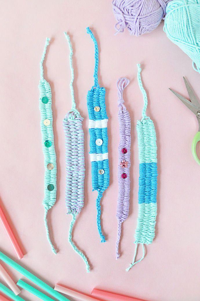 DIY Woven Yarn Friendship Bracelets Tutorial