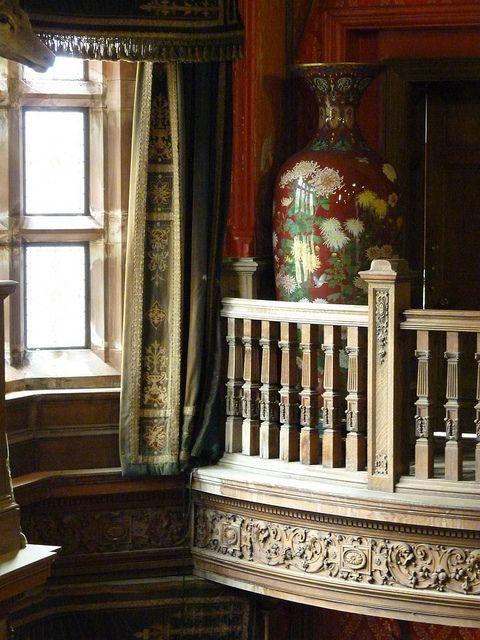Castle Drawing Room: Kinloch Castle Drawing Room Balcony. Isle Of Rùm, Inner