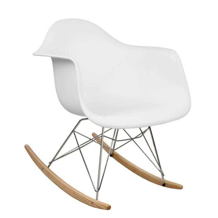 Μοντέρνα άνετη και κουνιστή!!! Όλα αυτά μαζί σε μία πολυθρόνα από πολυπροπυλένιο σε ματ υφή και λευκό χρώμα. Διαστάσεις: 62x70x70 εκ.