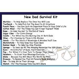 Dad To Be Survival Kit In A Can. Humorous Novelty Fun Gift - New Parent/Father. Baby Shower Present & Card All In One. Customise Your Can Colour.