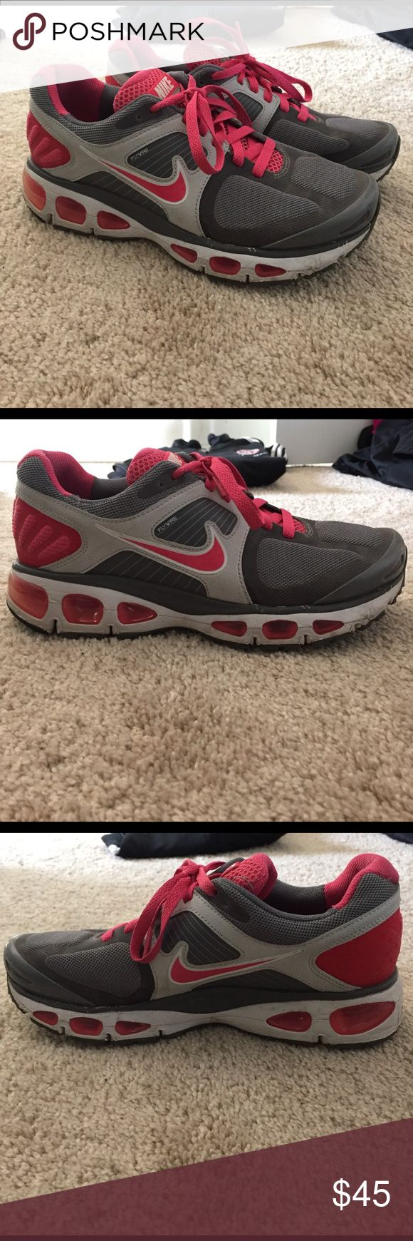 Nike Air Tailwind Shoes Flywire Technology Used but in very good condition! Nike Air Pink, light grey, and dark grey Nike Shoes Athletic Shoes