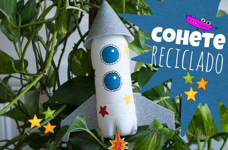 Cortinas De Baño Graciosas:Cohete con botella de plastico
