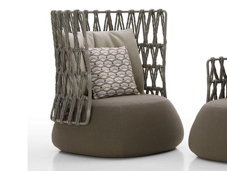 Upholstered high-back garden armchair FAT-SOFA OUTDOOR | High-back armchair - B&B Italia Outdoor, a brand of B&B Italia Spa