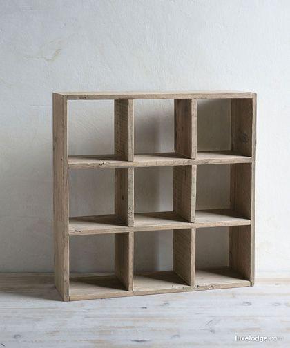 Bacheca da muro realizzata con assi di legno di recupero, Made in Italy