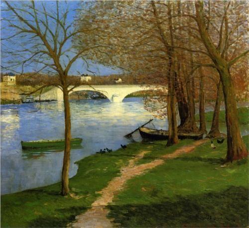 Bridge over the Loire - Maxime Maufra