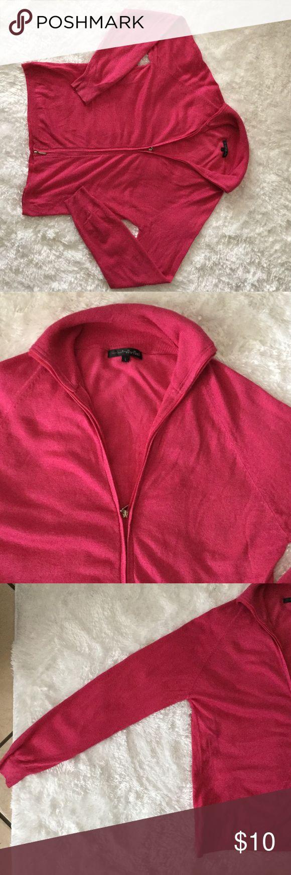 Pink zip up sweater A pink sweater that zips up Pierri New York Tops Sweatshirts & Hoodies