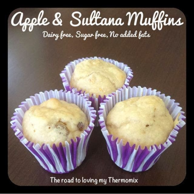 The road to loving my Thermomix: Apple and Sultana Muffins