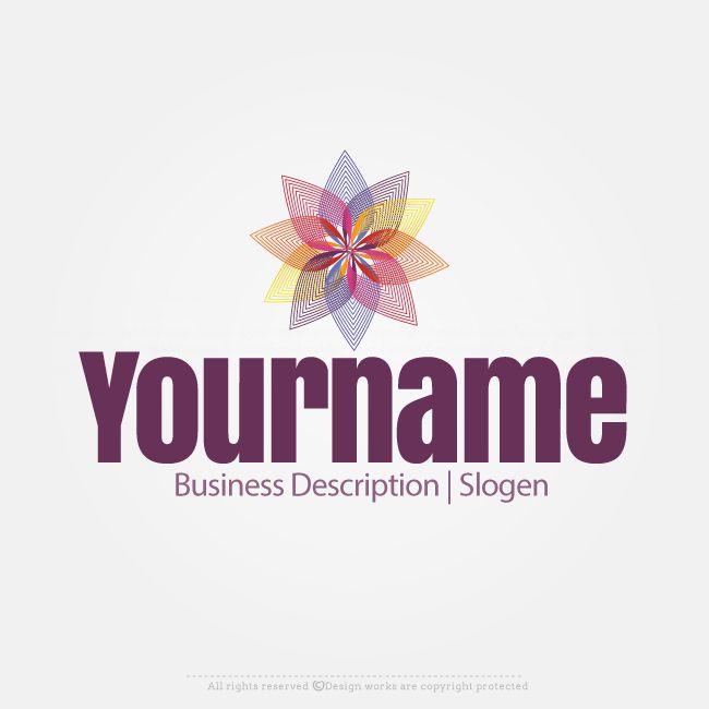Free Logo Maker – Create Logo Online – Star Flower Logo Design
