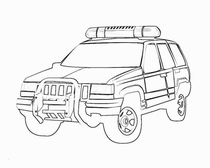 Coloring Pages Of Police Cars