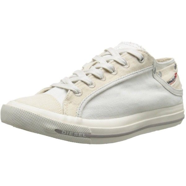 Diesel Women's Magnete Exposure IV Low W Fashion Sneaker ($33) ❤ liked on Polyvore featuring shoes, sneakers, diesel shoes, diesel trainers, diesel sneakers, low shoes and low sneakers