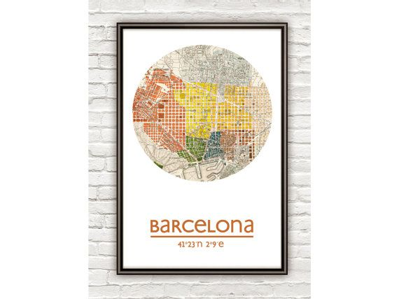 BARCELONA  city poster  city map poster print by ALLCITYPOSTERS